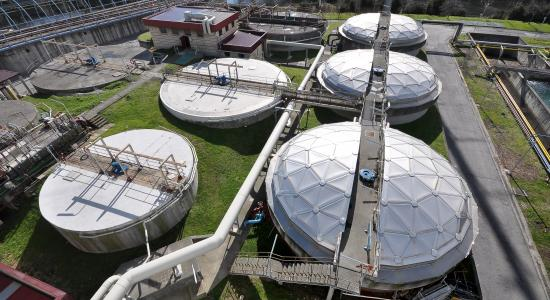 Domes for waste water
